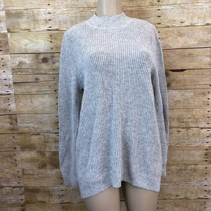 BP Gray Pearl Heather Slouchy Sweater XL